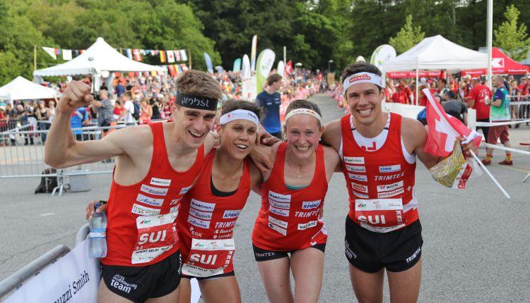 Schweiz gewinnt Sprint-Staffel brillant